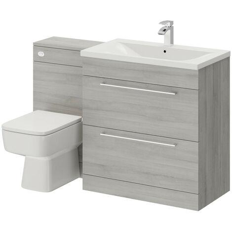 Napoli Molina Ash 1300mm 2 Drawer Vanity Unit Toilet Suite