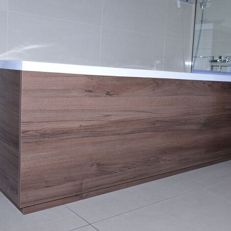 Napoli Walnut 1800mm Front Bath Panel