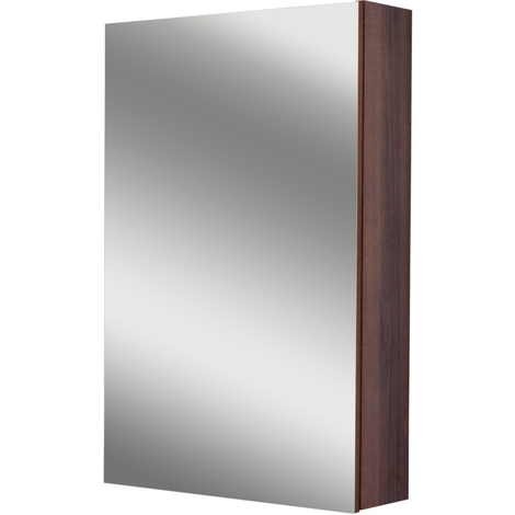 Napoli Walnut 500 Mirror Wall Cabinet