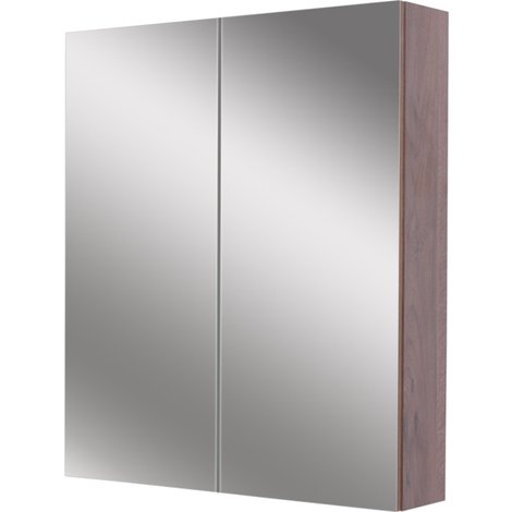 Napoli Walnut 600 Mirror Wall Cabinet