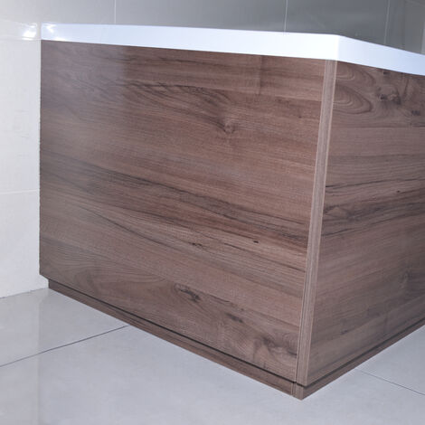 Napoli Walnut 750mm End Bath Panel