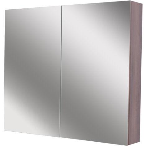Napoli Walnut 800 Mirror Wall Cabinet