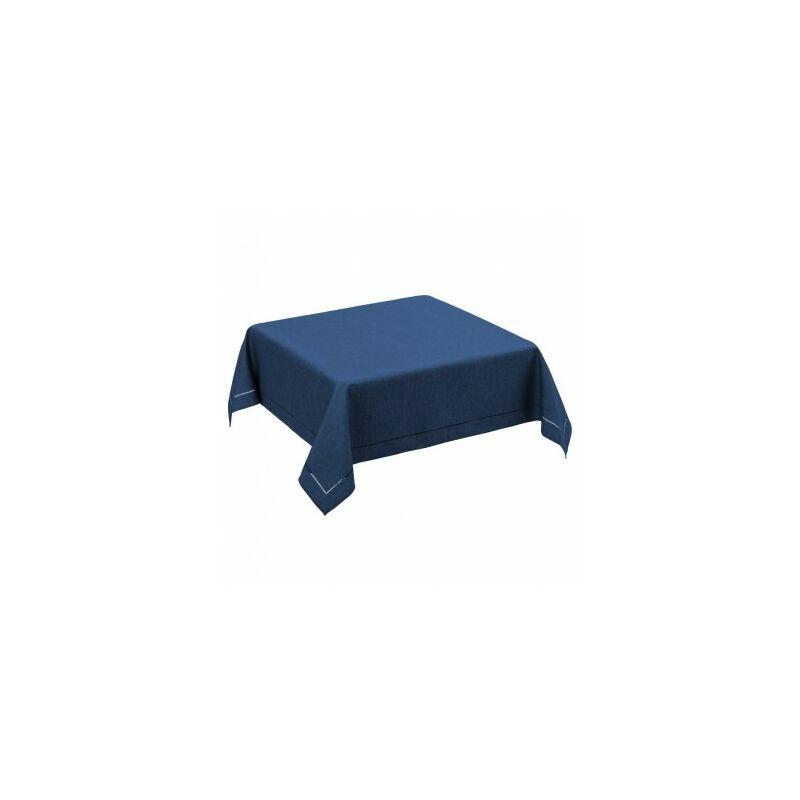 Nappe Carrée Bleu Foncé - 150x150cm - Bleu