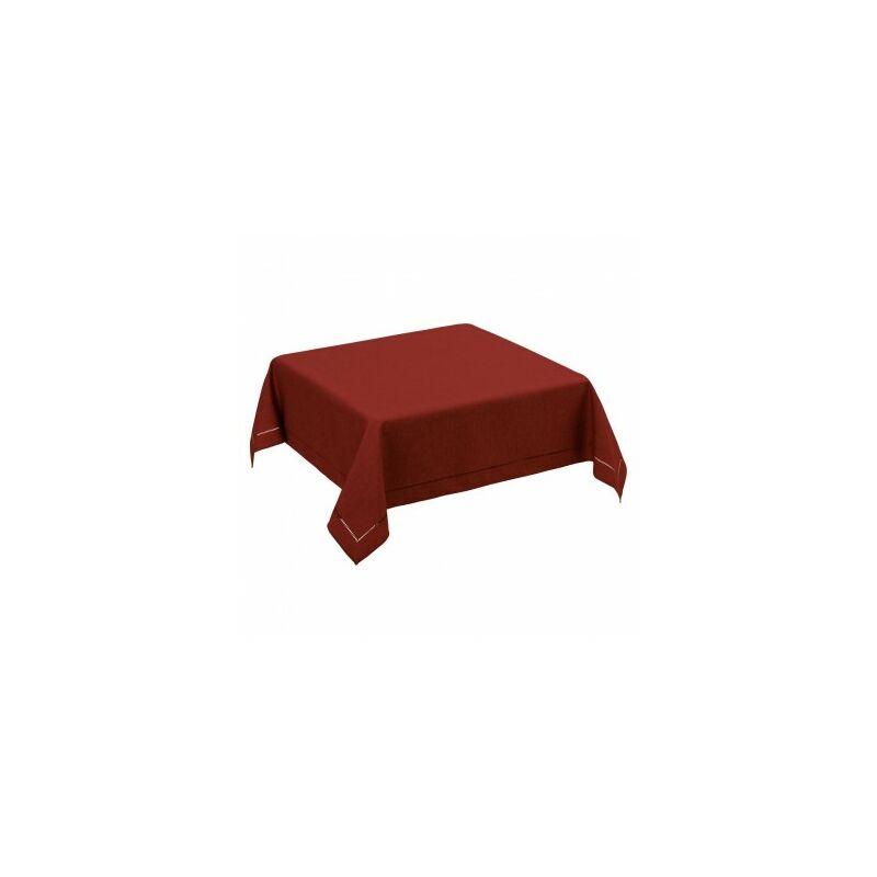 Nappe Carrée Rouge Bordeaux - 150x150cm - Rouge