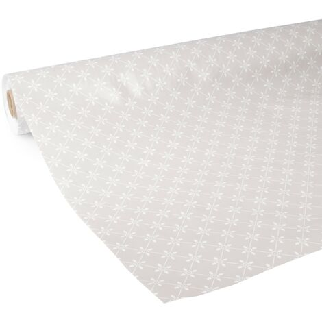 Nappe de table Betty Taupe 140 x 240cm petit motif D-C-FIX