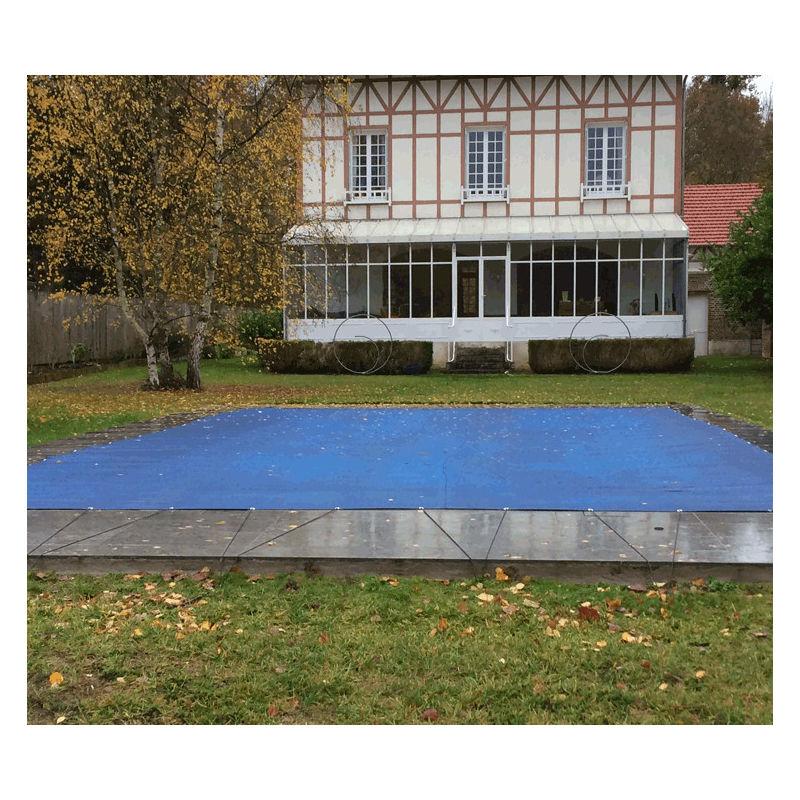 Direct Filet - Nappe perméable pour piscine en hivernage actif 6x6m | Couleur: Bleu