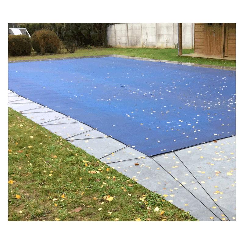 Nappe perméable pour piscine en hivernage actif 6,5x12,5m | Couleur: Bleu - DIRECT FILET