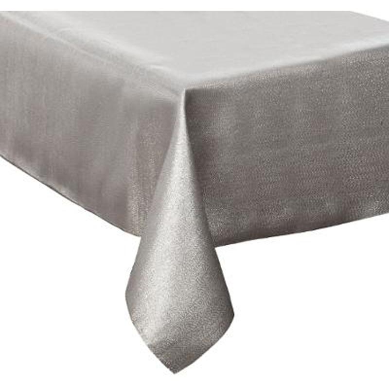 Nappe paillettes en polyester coloris argent - Dim : L.360 x l.140 x H.1 cm -PEGANE-