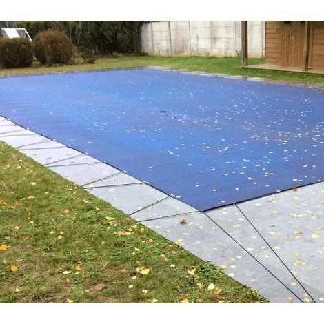 Nappe perméable pour piscine en hivernage actif 6,5x12,5m