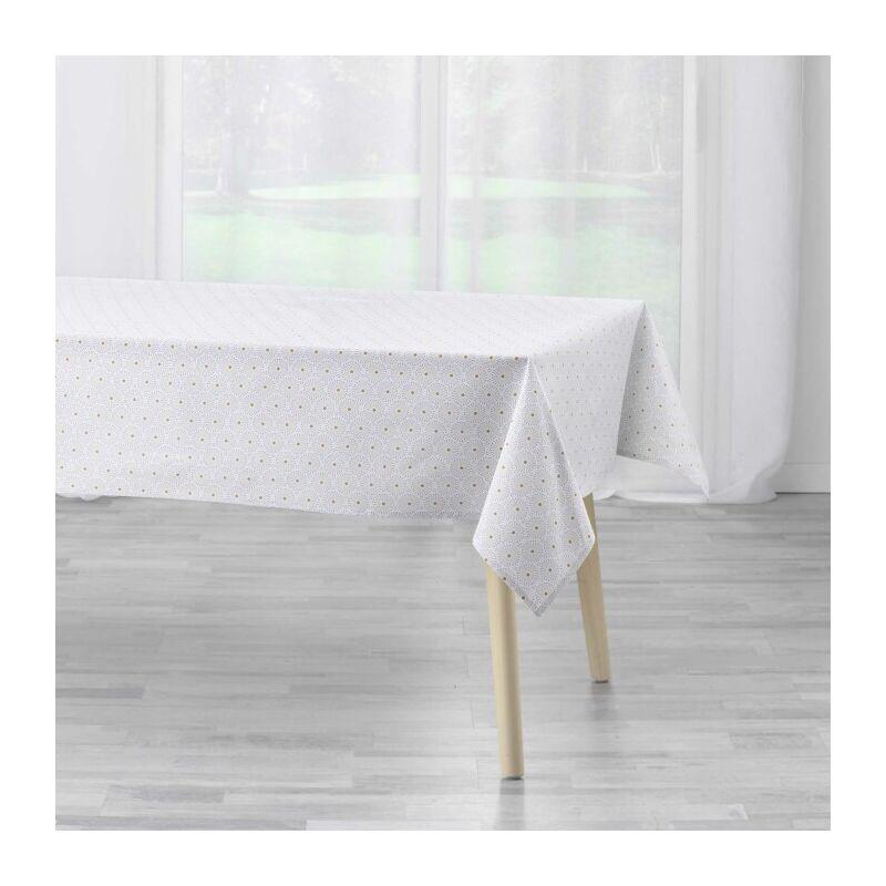 Douceur D'intérieur - nappe rectangle 140 x 240 cm coton imprime astre