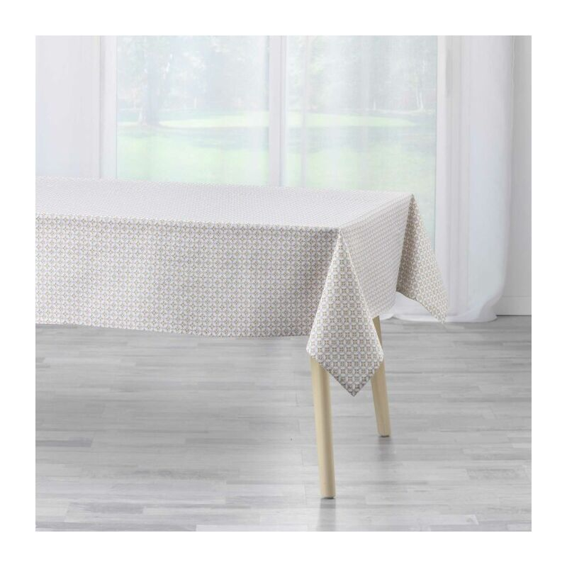 Douceur D'intérieur - nappe rectangle 140 x 240 cm coton imprime azelia