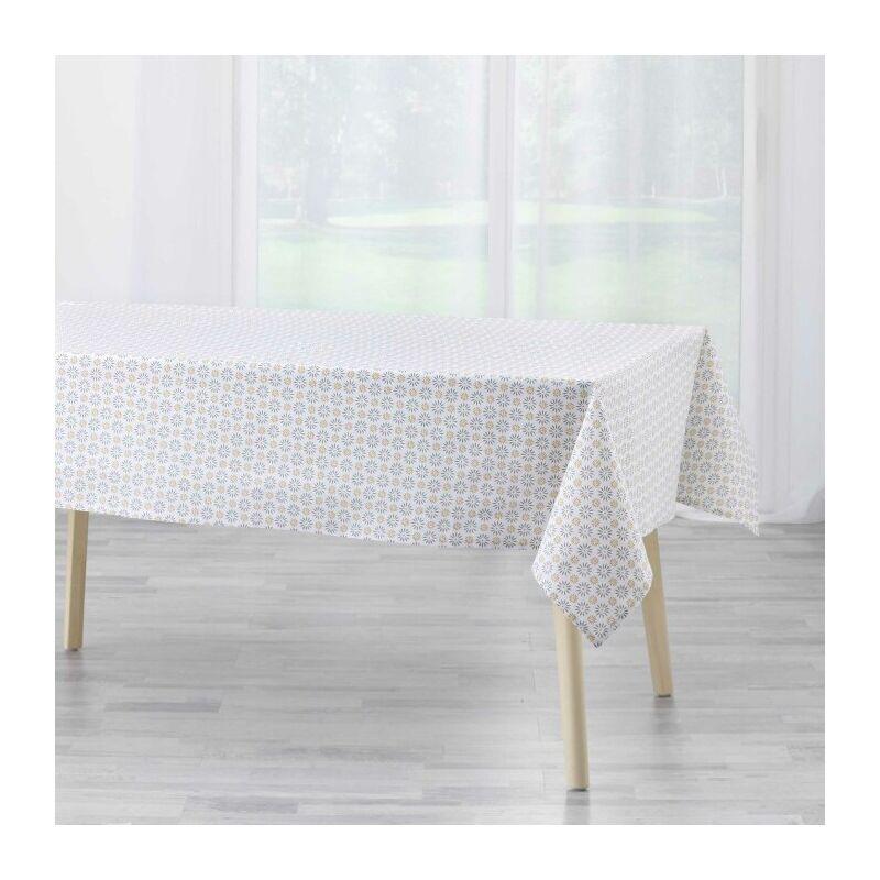 Douceur D'intérieur - nappe rectangle 140 x 240 cm coton imprime floreor