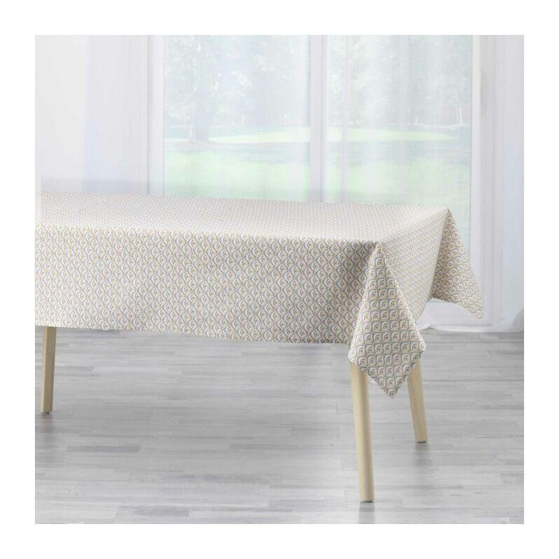 Douceur D'intérieur - nappe rectangle 140 x 240 cm coton imprime meridienne