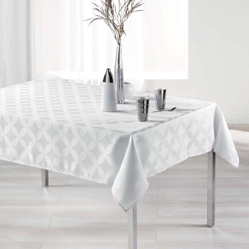 Douceur D'intérieur - Nappe rectangle 140 x 300 cm jacquard tivolina Blanc
