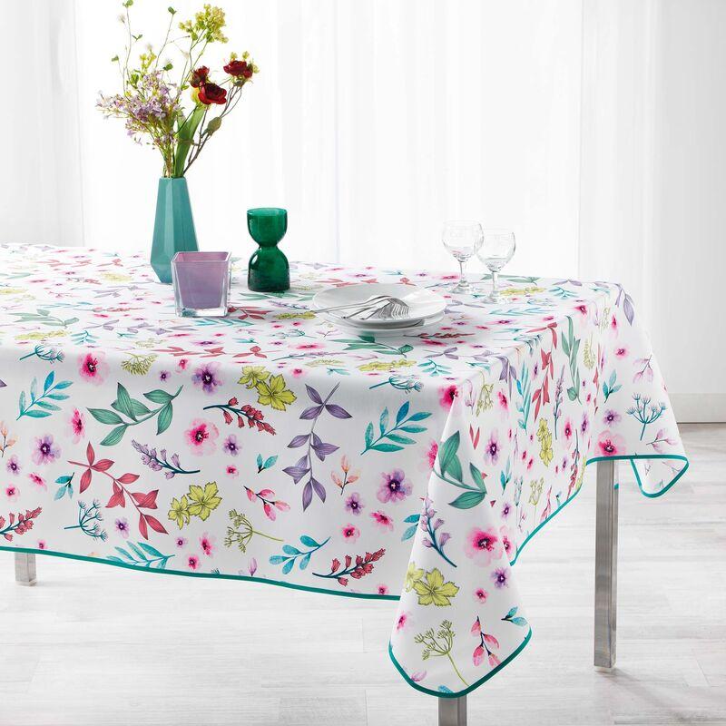 Douceur D'intérieur - Nappe rectangle 150 x 240 cm polyester imprime freshy Blanc