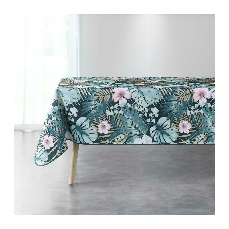 Nappe rectangle 150 x 240 cm polyester imprime kelly Bleu