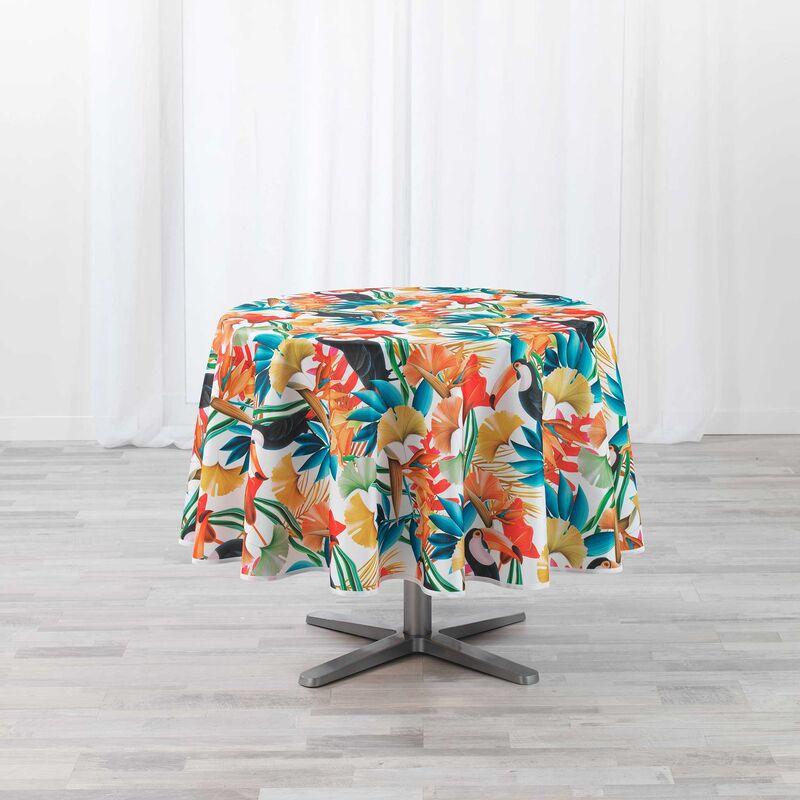 Douceur D'intérieur - Nappe ronde (0) 180 cm polyester imprimé Cocobello Blanc