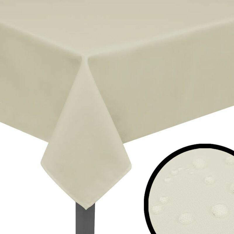 Nappes 5 pièces 170 x 130 cm Crème - crèmem