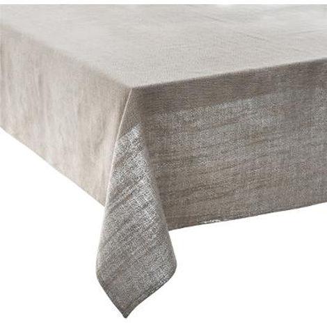 Nappes de table Noël en Jacquard argent - 360 x 140 cm -PEGANE-