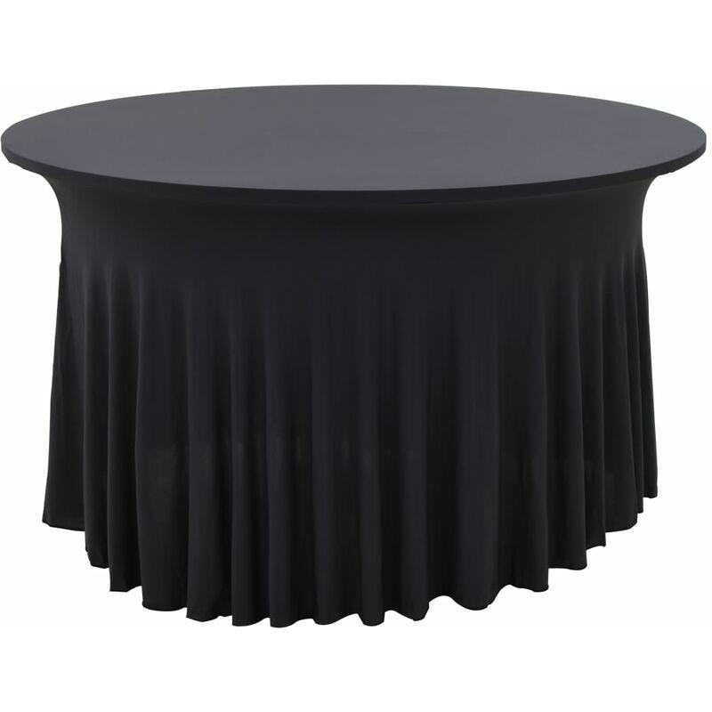 Nappes élastiques de table avec jupon 2 pcs 180x74cm Anthracite