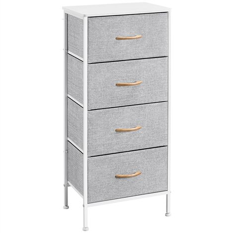 """main image of """"Narrow Chest of Drawers Bedroom Storage Drawers with wooden Handles Fabric Storage Unit Clothes Organizer Dresser for Living Room Nursery Hallway Easy Assembly"""""""