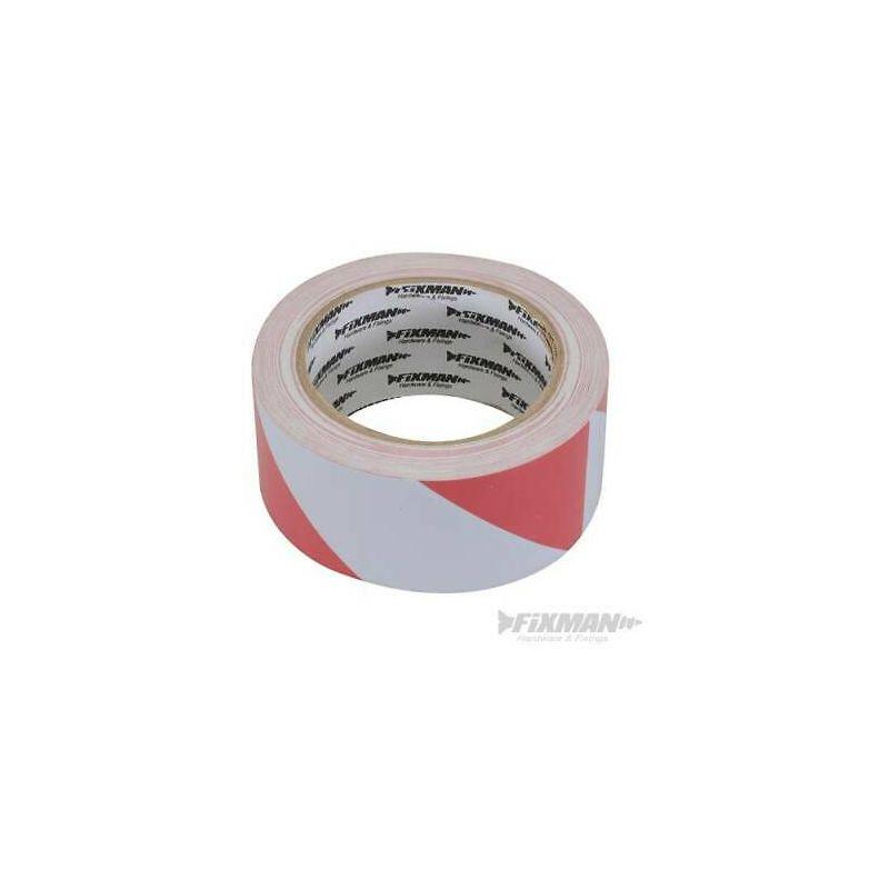 Nastro di segnalazione 50 mm x 33 m rosso/bianco in PVC ...