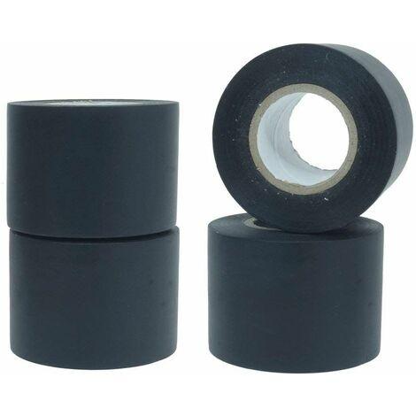 Nastro adesivo isolante colore nero pvc per elettricista 0.13mm x50mm x 25m 4pz