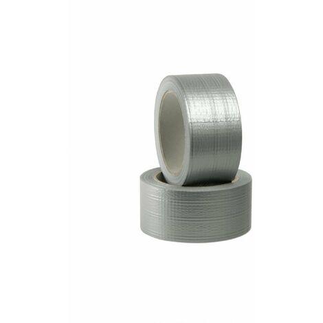 Nastro americano telato extraforte grigio/argento 5 cm x 25 m