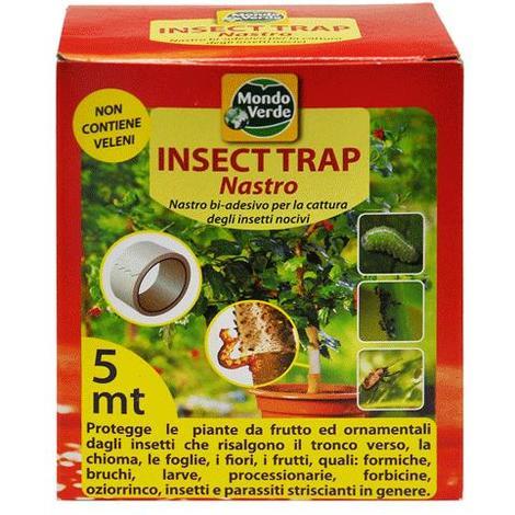 Nastro Cattura Insetti Bi-Adesivo Insect Trap - Cm 5 X 5 Mt