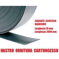 Nastro Isolante Acustico Biadesivo per Orditura Cartongesso in Polietilene Espanso - Larghezza 70 mm - Rotolo da 20 m