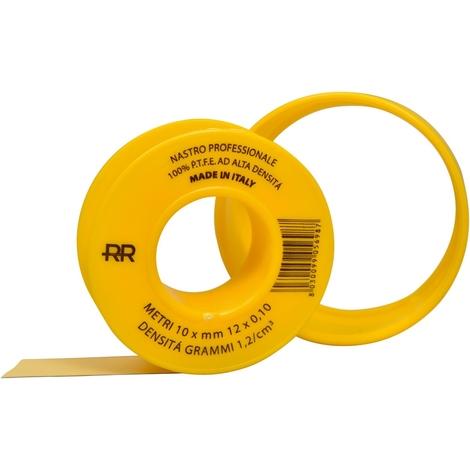 """main image of """"Nastro p.t.f.e. giallo professionale per gas 12mm x 10m"""""""