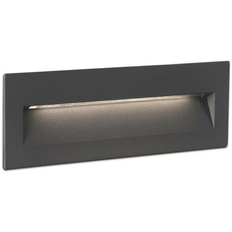 NAT Lámpara empotrable gris oscuro para exterior IP65