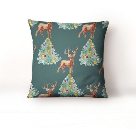 Natale Cushion Cover - Christmas, Cushion - Square - Couch, Bed - Multicolor made of Polyester, 45 x 45 cm