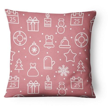 Natale Cushion Cover - Christmas, Cushion - Square - Couch, Bed - Multicolor made of Polyester, Cotton, 45 x 45 cm