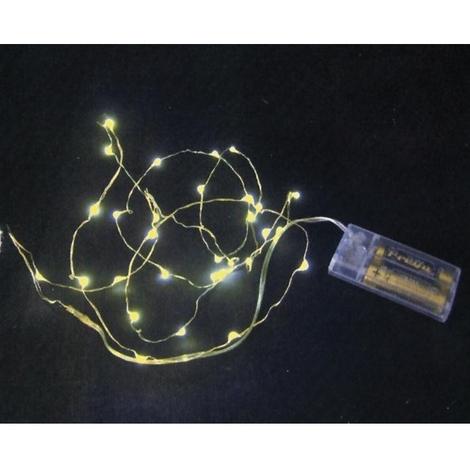 Luci A Led A Batteria.Natale Luci Nano Led A Batteria 30 Led Luce Calda Per Interno D1138