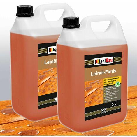 Natürliches LEINÖL- FIRNIS 0,25L - 25L Holzöl Leinöl Firnis Harzfrei Holzschutz