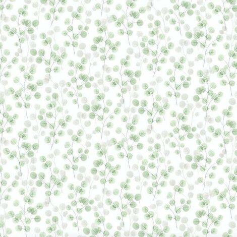 Natasha Green Wallpaper Debona Floral Textured Glitter White Grey Vinyl