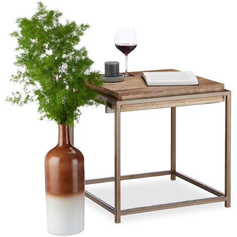 Native Home Table D Appoint Bois De Manguier Table Salon Moderne
