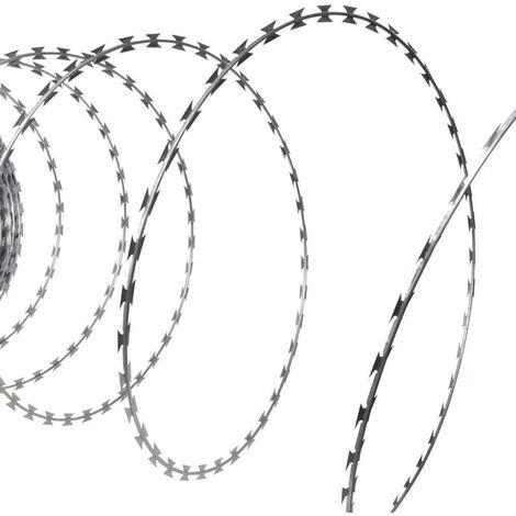 NATO Razor Wire Helical Wire Roll Galvanized Steel 60 m VD03811