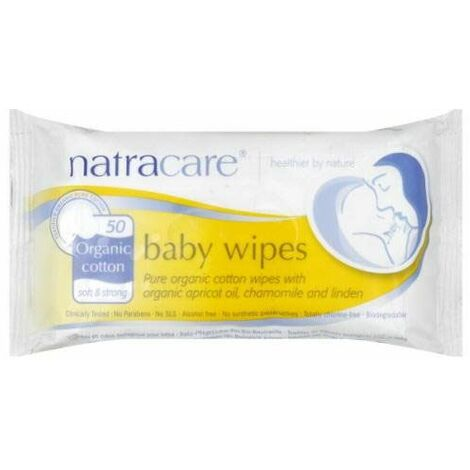 Natracare Cotton Baby Wipes - Organic - 50s - 42788