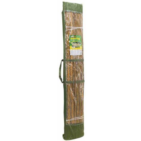 Natte brise vue bambou 1.5x3m - Marron