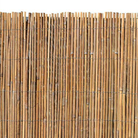 Natte en bambou Clôture bambou pare-vue protégeant bambou Clôture de jardin naturelbrise-vent 5 mètres / 120cm
