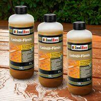 Natürliches LEINÖL- FIRNIS 3 L Holzöl Leinöl Firnis Harzfrei Holzschutz Gekocht