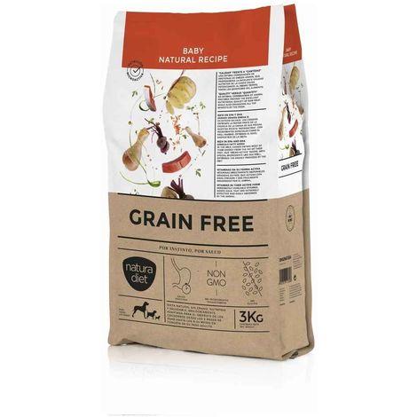 Natura Diet - Croquettes Baby GRAIN FREE Poulet pour Chiot - 3Kg