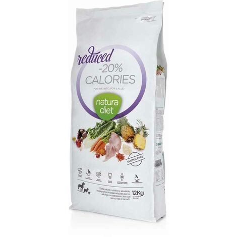 Natura Diet - Croquettes Reduced -20% Calories Dinde pour Chien - 12Kg