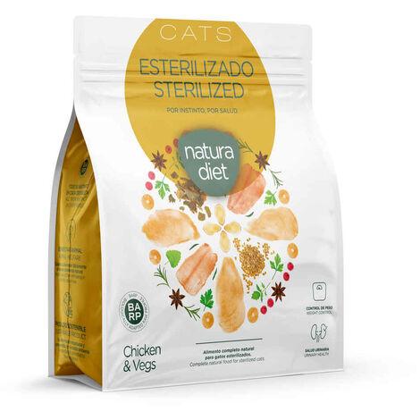 Natura Diet - Croquettes Sterilized Poulet pour Chat Stérilisé - 400g