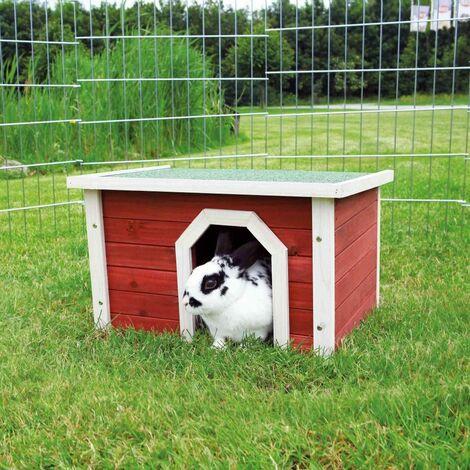 Natura habitat petits animaux - 50 × 30 × 37 cm, rouge/blanc