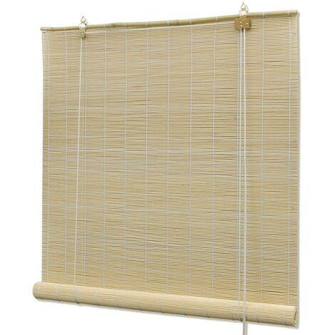 Natural Bamboo Roller Blinds 120 x 160 cm - Beige