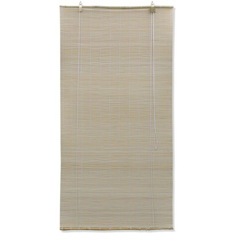 Natural Bamboo Roller Blinds 120 x 160 cm QAH08683
