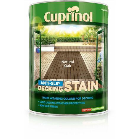 Cuprinol Anti Slip Decking Stain - Natural Oak - 5 Litre